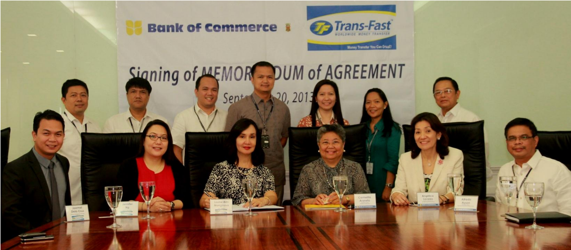 Bank of Commerce ties up with Trans-Fast