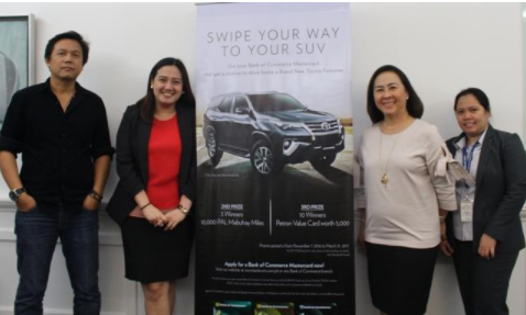 BOC Credit Cards announces the winners of the Swipe Your Way to a New SUV promo. 2