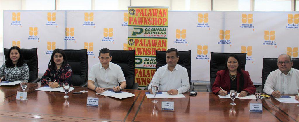 Bank of Commerce collaborates with Palawan Express Pera Padala. 1