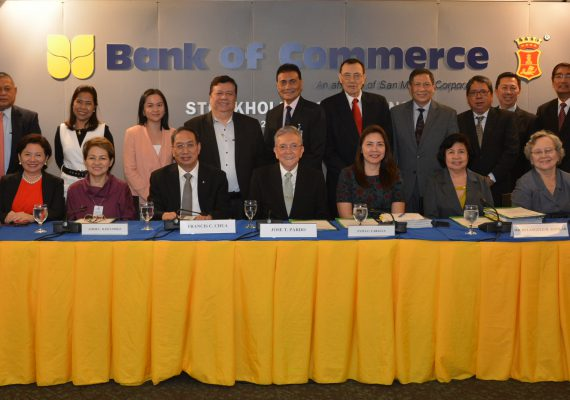 Bank of Commerce Special Stockholders' Meeting