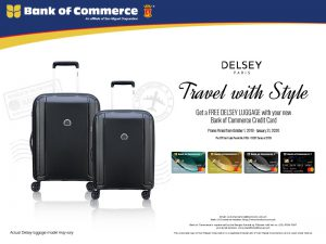 Free Delsey Luggage Promo