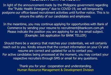 Recruitment Advisory