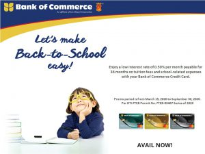 Back-to-School Installment Plus Promo