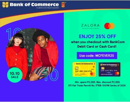 Mastercard X Zalora Promo Bank Of Commerce
