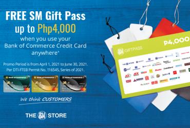 FREE SM Gift Pass